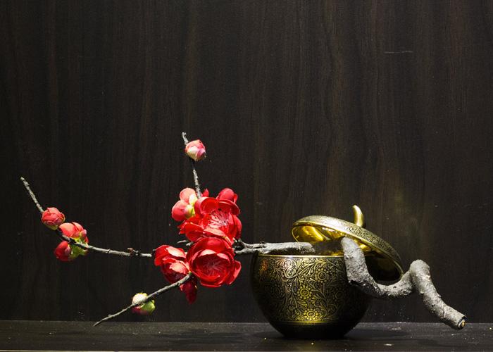 lọ hoa bằng đồng thủ công Ấn Độ.